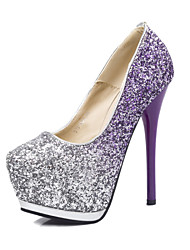 Women's Shoes Fabric Stiletto Heel Platform Pumps/Heels Party & Evening/Dress Blue/Pink/Purple