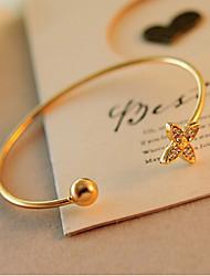 Lucky Star Women's Elegant Opening Rhinestone Bracelet