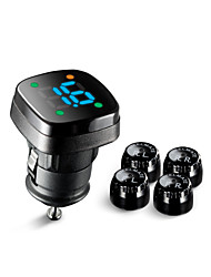 Steelmate DIY TPMS TP-76B External Sensor Wireless Tire Pressure Monitoring System LED Cigarette Lighter  with Bar Unit