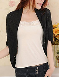 Women's Casual Knitwear Thin ½ Length Sleeve Shrug Cardigan
