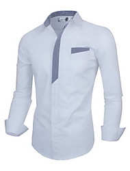 Aokefei Men's European leisure long-sleeved shirts 30