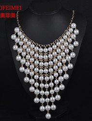 European and American fashion multi-pearl pendant tassels temperament long section of the women's sweater chain necklace