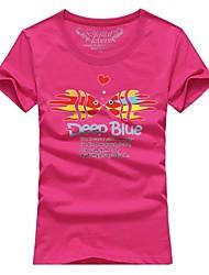 Ms. Couples summer short sleeve T-shirt tropical fish # 005