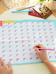100 Days Countdown Calendar Lovely Practical Work Study Schedule (Random Color)