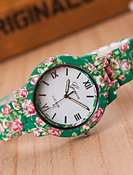 New Birthday giftsStudent Loves Quartz Watch Fashion High-quality Ceramic Printing, Leopard, Military T3663-7