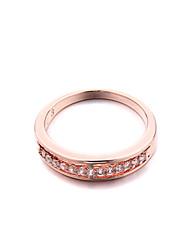 Sjeweler Ladies Girls Rose Gold Plated Wedding Zircon Ring