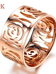 OPK®Hollow Out Ms Camellia Plating 18 K Rose Gold Ring