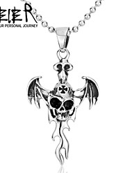 Stainless Steel Make Love Skeleton Necklace Pendant Titanium Steel Unique Style Skull Pendant For Man