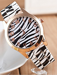 montre-bracelet étanche les beignets de femmes grains ronds léopard cadran silicone bande de quartz analogique (couleurs assorties)