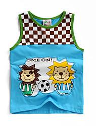 Jungen T-Shirt - Baumwolle Schachbrett Sommer
