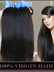 "3Pcs Lot 8""-30"" Unprocessed 6A Peruvian Virgin Hair Straight Natural Black Human Hair Weave Bundles Soft Thick Full"