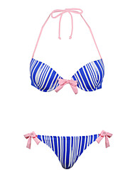 winmax® femmes rayé bleu en nylon&spandex maillot de bain bikini