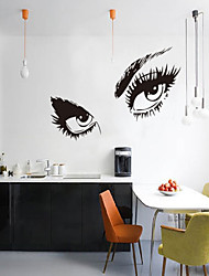 3D Wall Stickers Wall Decals, Style People Charming Eyes PVC Wall Stickers