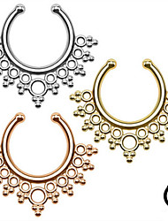 Body Piercing Jewellery Fashion Stainless Steel  Hollow Out Nose Ring Body Jewelry Piercing