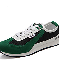 Men's Running Shoes Faux Suede Green/White/Navy