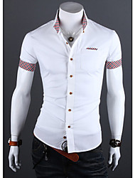 Jazz,Men's Vintage/Casual/Party/Work LapelShort Sleeve Casual Shirts (Cotton/Rayon)