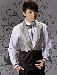 Black&Gray Cotton Tailorde Fit Vest