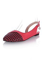 Zapatos de mujer - Tacón Plano - Comfort - Sandalias - Oficina y Trabajo / Vestido - Semicuero - Negro / Rojo / Blanco