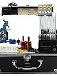 kits de máquina de tatuagem com 4 máquinas de tatuagem de aço e 4 elenco máquinas de tatuagem de ferro