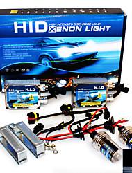 Super Vision Headlamps 4200LM 9-16V 20A 35W H3 8000K High Brightness Xenon HID Conversion Kit