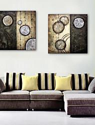 E-Home® Leinwand Kunst abstrakte Kreismuster dekorative Malerei Satz 2