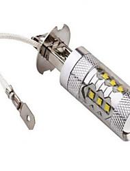 1 pcs H3 CREE 80W High Power LED 1200 LM 2800-3500/6000-6500 K Cool White Decorative Decoration Light DC 24/DC 12 V