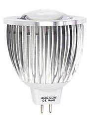 1 pz 5 w 1led x cob 380-450 lm 2800-3500 / 6000-6500 k bianco caldo / freddo bianco mr16 luci spot dc / ac 12 v