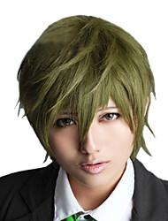 Angelaicos Men Free! Makoto Tachibana Short Dark Green Layered Halloween Boy Anime Costume Party Cosplay Full Wig