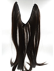 20inch #1B Natural Black Halo Hair Extensions Synthetic Flip in Hair Extensions Best Quality 002