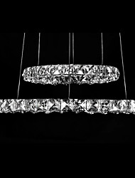 LED Crystal Pendant Lights Lighting Modern D4060 2 Rings Three Sides K9 Crystal Indoor Ceiling Lights Lamp Fixtures