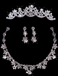 Fashion Ladies'/Women's Alloy Wedding/Party Jewelry Set With Rhinestone