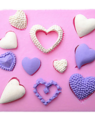 Heart Shape Silicone Fondant Cake Molds Chocolate Mould For The Kitchen Baking Sugarcraft Decoration Tool