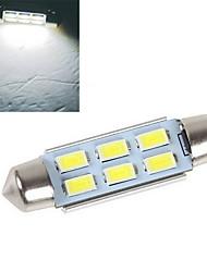 PC 1 4w 6x SMD 5630 200-250lm 6500-7500k blanco fresco decorativo decoración de la luz 12v dc