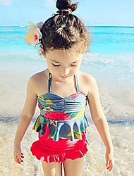 Girl's Floral Swimwear
