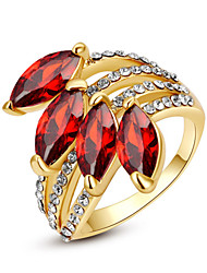 Statement Rings Crystal Imitation Ruby Imitation Diamond Simulated Diamond Alloy Birthstones Jewelry Wedding Party Daily Casual 1pc