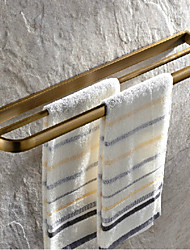 Antique Brass Finish Brass Material Double Towel Bars