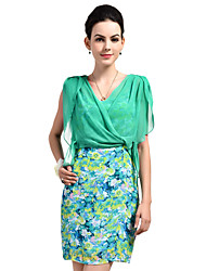 Women's Floral Printed Sleeveless Slim Fitted Dress