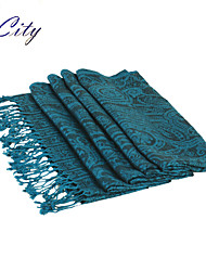 NEW Women Silk Scarf/Scarves  Ladies  Royal Blue National Print Soft Chiffon Scraf Hijab