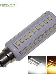 B22 12W 66x5050SMD 1200LM 3500K 6000K  Warm White/Cool White Light LED Corn Bulb AC85-265V