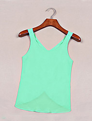 Women's Casual Inelastic Regular Vest (Chiffon)