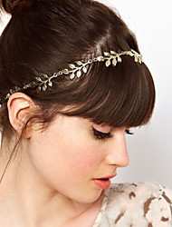 5 Leaves Gold Metal Leaf Headband Hair Band Fashion Hair Accessories(1 pc)