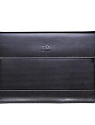 caso lention negocio del cuero genuino con cuero magnética cubierta del caso del bolso de la manga para el MacBook Pro de 15 pulgadas