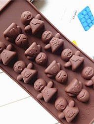 Fashion Silicone Cake Ice Chocolate Decoration Kitchen Bakeware Cooking Tools Sweet Food Making Mould (Random Color)
