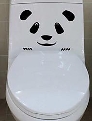 stickers muraux stickers muraux, panda visage Bathroom Wall décoration murale PVC autocollants