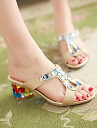 Women's Shoes Gold Chunky Heel Sandals (PU)