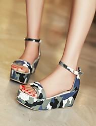 Ruomini Women's Shoes Sponge-cake Heel Peep-toe Pumps Dress Sandals More Colors available