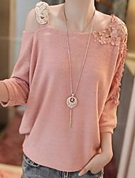 D.Swizzle Women's New Lace Cut Out Causal Strap One Shoulder Knitwear
