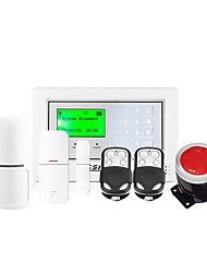 Touch Screen Alarm System Wireless Home Security System and Alarm Auto-Dial and 100 Wireless Zone