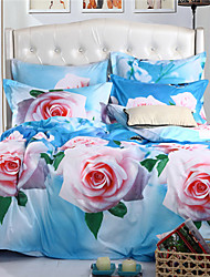 Mingjie Pink Roses 6D Bedding Sets 4PCS Queen Size and Full Size Bed Linen China Duvert Cover Sets