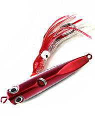 Ultra Realistic Red Fish Hook Octopus Bait Lead Fish